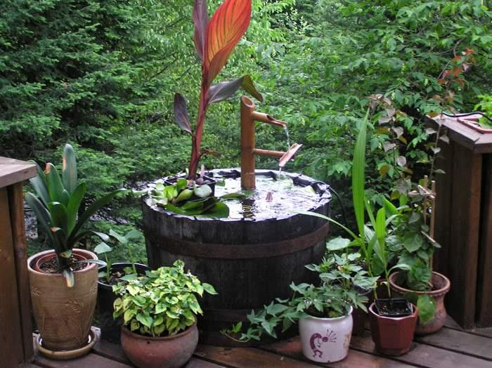 Jardin en contenantle paysagiste - Bassin dans un tonneau marseille ...