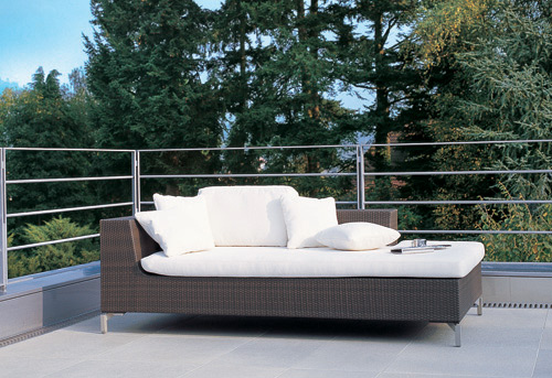 Sofa de jardin en teck
