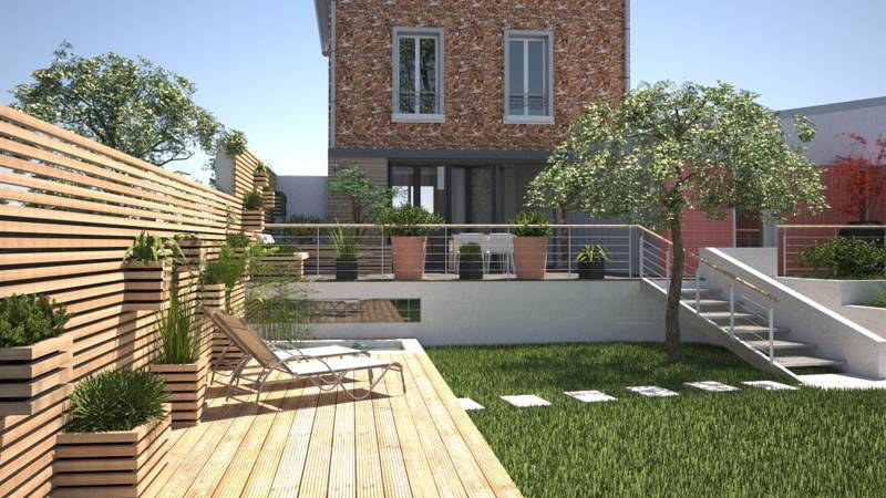 Le r am nagement d 39 un jardin par un architecte dplg le for Creation jardin exterieur