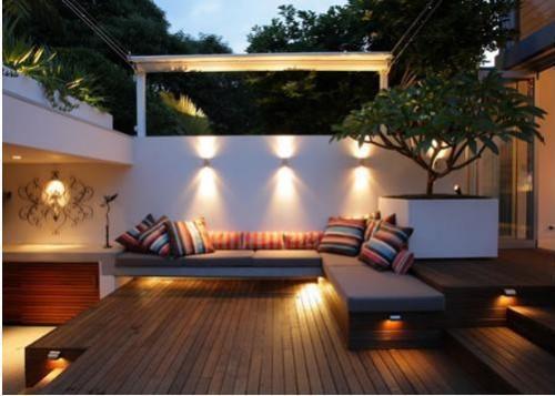 éclairage pour salon de jardin