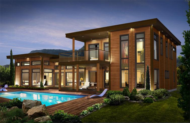 Des astuces pour une maison verte le paysagiste - Maison contemporaine de luxe ...