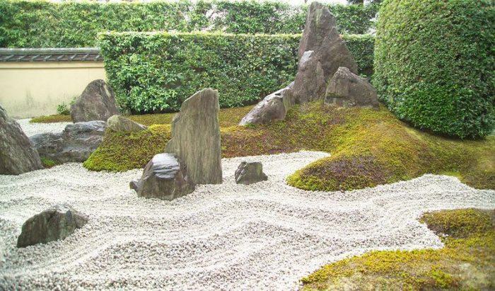 créer un jardin sec japonais